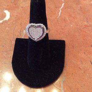 Micro Pave CZ Heart Ring